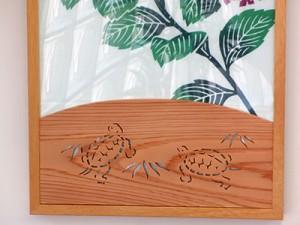 江戸木彫刻「亀」