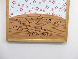 江戸木彫刻「桜」